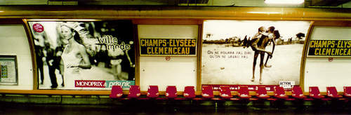 The Champs-Elysées/Clemenceau stop on the Metro